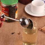 Buy High Quality Convenient Ball Shaped Stainless Steel Silver Push Style Tea Infuser at DekiGo kitchen