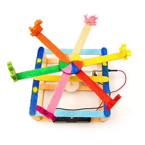 DIY STEM Toys for Children Physical Scientific Experiment - Merry-go-round
