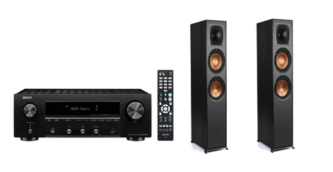 Denon DRA800H Network Receiver & Klipsch R-820F Floorstanding Stereo Package - Black + 6M Speaker Cable