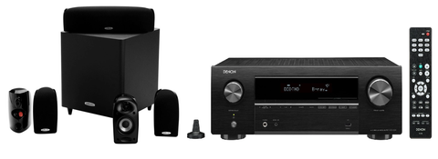 Denon AVR-X550BT 5.2 Ch. AV Receiver with polk TL1600 5.1 Home Theatre System - Black
