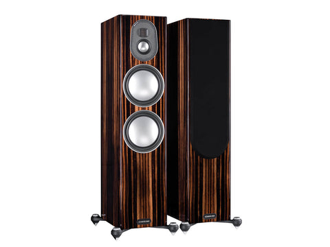 Monitor Audio Floorstand Speakers Gold 300 - Walnut