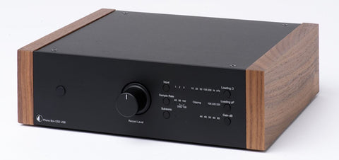 Pro-Ject Phono Box DS2 USB  - Black/Walnut