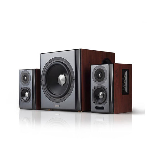 Edifier 2.1. S350DB Active Desktop/Bookshelf/Gaming Speakers -Brown
