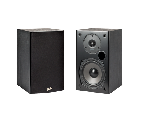 polk T15 Bookshelf speakers - pair - Black