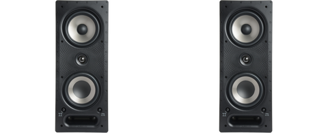 polk 265-RT Vanishing RT Series In-Wall Loudspeaker - pair - White
