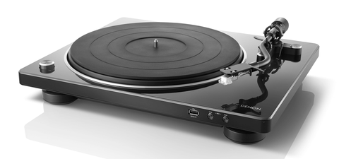 DP-450USB Hi-Fi Turntable with original S-Shape tonearm and USB - Black