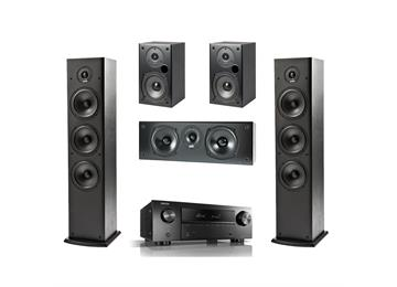 Denon AVRX550BT with Polk T-Series 5.0 speaker system