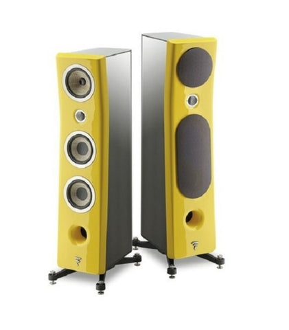 FOCAL KANTA N2, 3-WAY FLOORSTANDING SPEAKERS - pair - Black & Yellow