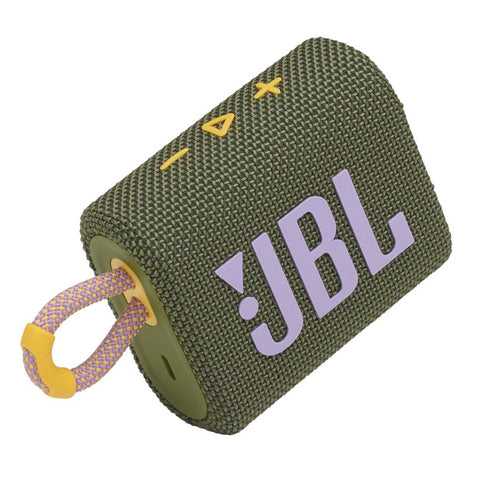 JBL Go 3 Portable Waterproof Bluetooth Speaker - Green