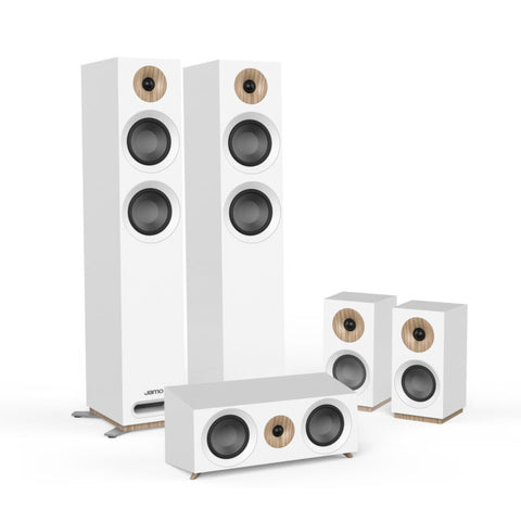 Jamo S807 HCS 5.0 Surround Sound Speaker Package - White
