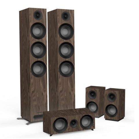 Jamo S809 HCS 5.0 Surround Sound Speaker Package -  Wallnut