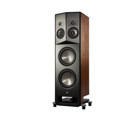 LEGEND L800 Polk Series Premium Floorstanding Tower Speaker - pair - Walnut Brown