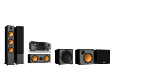 Monitor Audio SM300 / SM50 Denon AVR-X2600H - 5.1 Surround System - Black