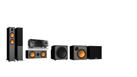 Monitor Audio SM200 / SM50 Denon AVR-X2600H - 5.1 Surround System - Black