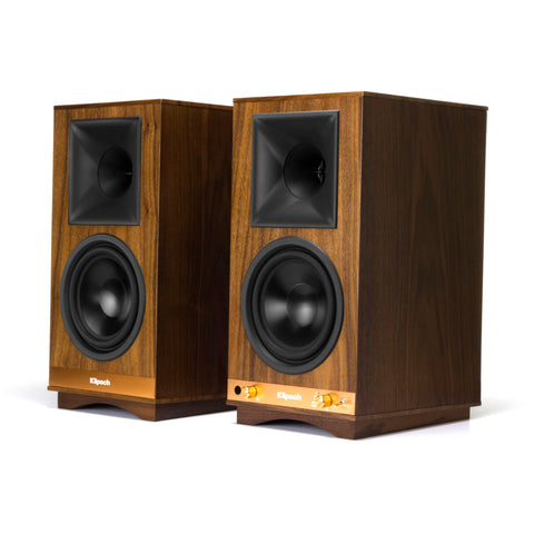 Klipsch THE SIXES Powered Speakers - Pair - Walnut