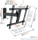 Vogel's WALL 2225 Full-Motion TV Wall Mount Black