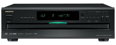 ONKYO DX-C390 6-Disc CD Carousel Changer - Black