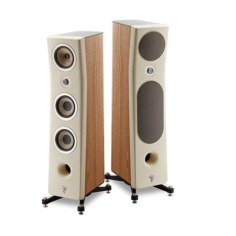 FOCAL KANTA N2, 3-WAY FLOORSTANDING SPEAKERS - pair - Dark grey & Walnut
