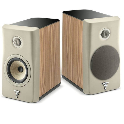 Focal Kanta N1 2-Way Bookshelf Speaker - pair - Gray & Walnut