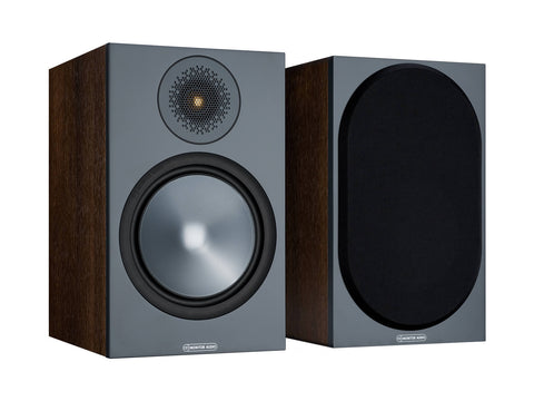 Monitor Audio BRONZE 100 Bookshelf Speakers - pair - Walnut