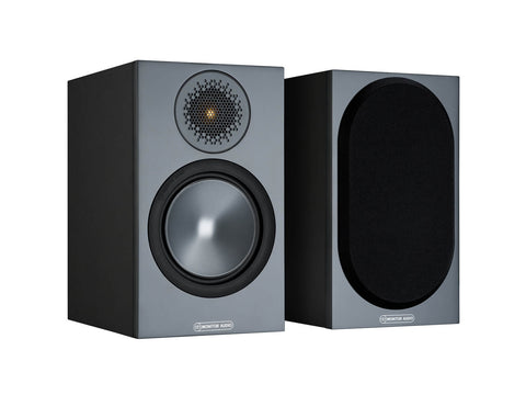 Monitor Audio BRONZE 50 Bookshelf Speakers - pair - Black