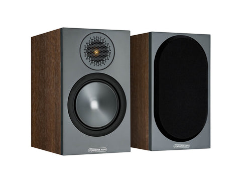Monitor Audio BRONZE 50 Bookshelf Speakers - pair - Walnut