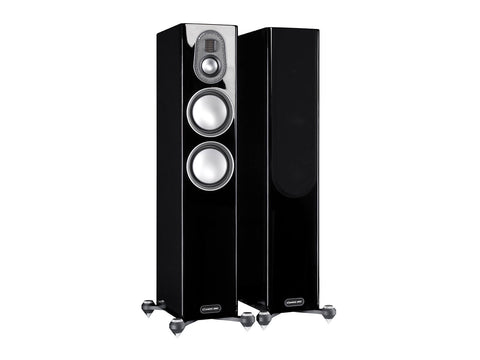Monitor Audio Gold 200 Floorstanding Speakers - pair - Piano Gloss Black