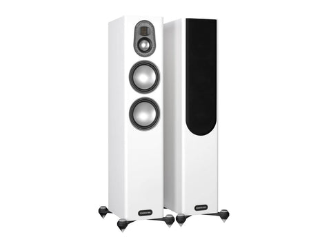 Monitor Audio Gold 200 Floorstanding Speakers - pair - Piano Satin White