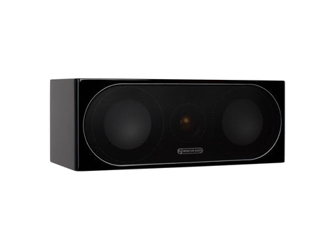 "Monitor Audio Radius 200 Centre 2-way 2x4"" Speakers - Each - High Gloss Black Lacquer"