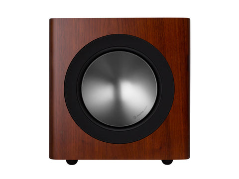 Monitor Audio Radius 380 Subwoofer - Each - Walnut Real Wood Veneer