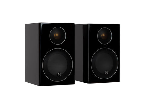 Monitor Audio Radius 90 Bookshelf Speakers - Pair - High Gloss Black Lacquer