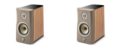 Focal Kanta N1 2-Way Bookshelf Speaker - pair - Brown & Walnut