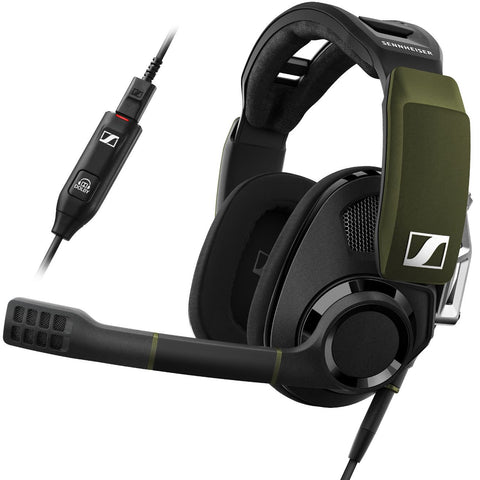 EPOS | Sennheiser GSP 550 PC Gaming Headset Surround Sound - Green&Black