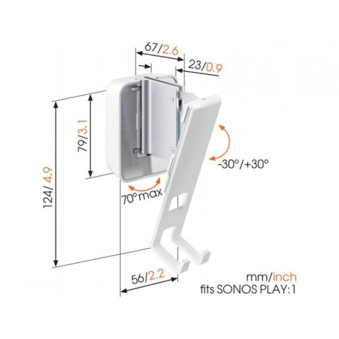 Vogels PLAY:1 Wall Bracket SOUND 4201 - White