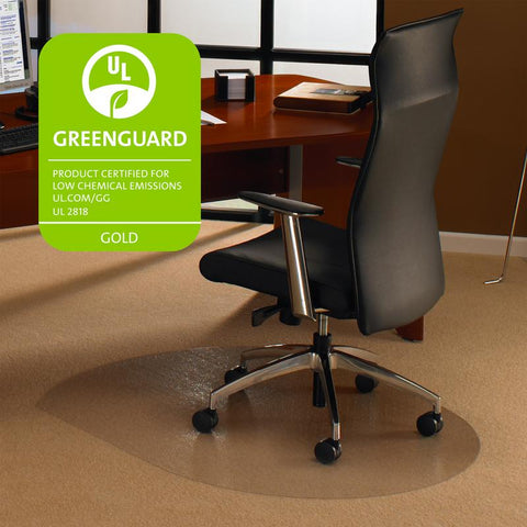 Cleartex Ultimat Polycarbonate Contoured Chair mat for Low & Medium Pile Carpets up to 1/2 (39 X 49)