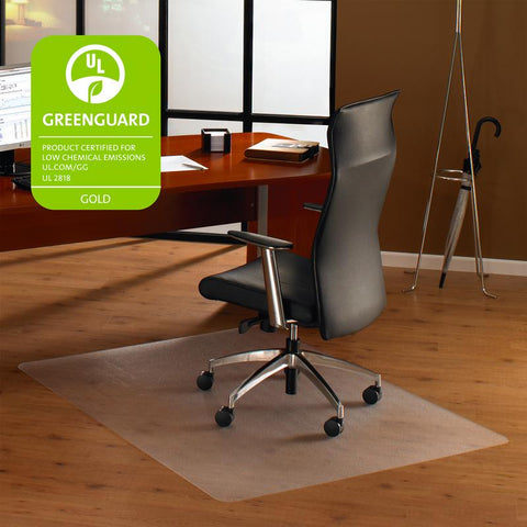 Cleartex Ultimat Polycarbonate Rectangular Chair mat for Hard Floors (48 X 53)