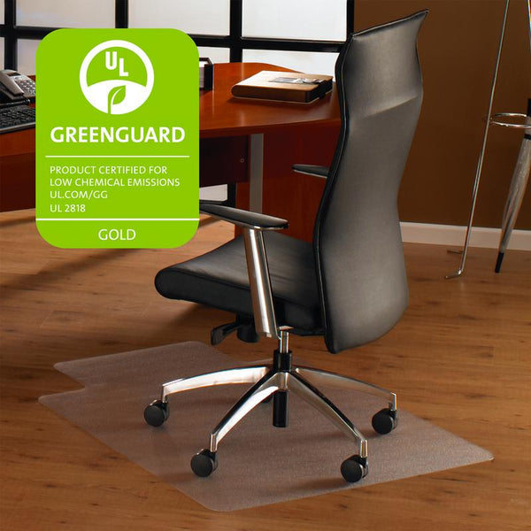 "Cleartex Ultimat Polycarbonate Clear Chair mat for Hard Floor, Rectangular with Lip(48"" X 60"")"