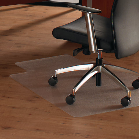 Cleartex Anti-Slip UnoMat Clear Chair mat for Polished or High Gloss Hard Floors` Very Low Pile Carpets and Carpet Tiles` Rectangular with Lip (35 X 47)
