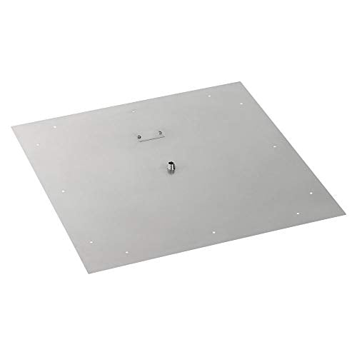 30 Square Stainless Steel Flat Pan (1/2 Nipple)