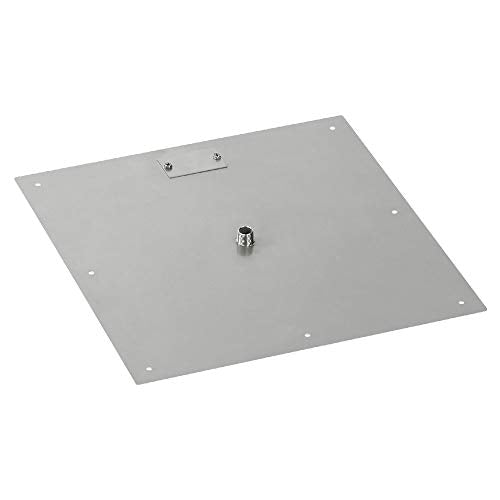 18 Square Stainless Steel Flat Pan (1/2 Nipple)