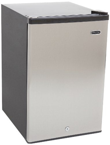Whynter Energy Star 2.1 cu. ft. Stainless Steel Upright Freezer with Lock
