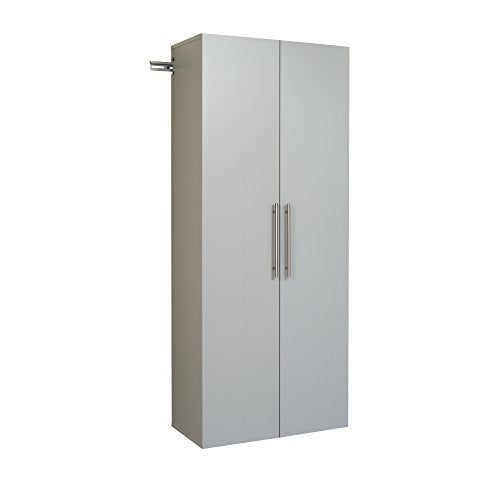 "HangUps 30"" Large Storage Cabinet, Light Gray"