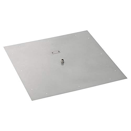 36 Square Stainless Steel Flat Pan (1/2 Nipple)