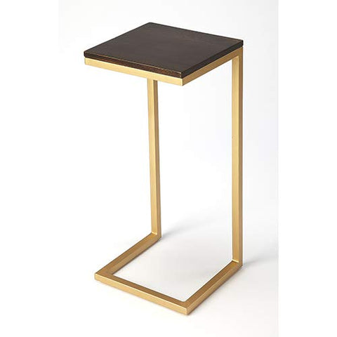 BUTLER KILMER WOOD & METAL ACCENT TABLE