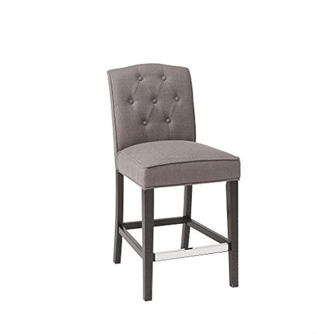 Tufted Counter Stool1 Chair:19.5W x 24.25D x 40HSeat:19.5W x 17.25D x 26HDistance Between Legs (Front to Front):16Distance Between Legs (Front to Back):19Distance Between Legs (Back to Back):14GreyMP104-0056