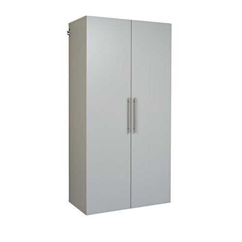 "HangUps 36"" Large Storage Cabinet, Light Gray"