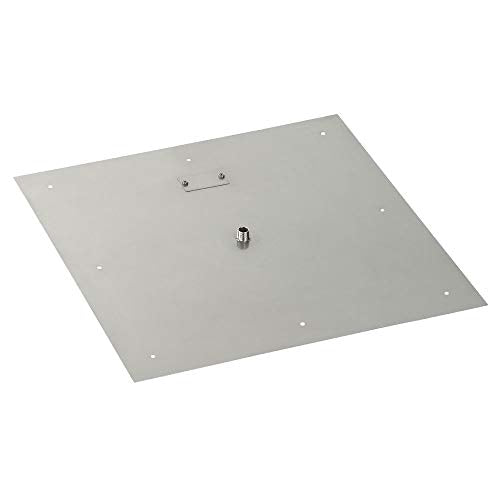 24 Square Stainless Steel Flat Pan (1/2 Nipple)