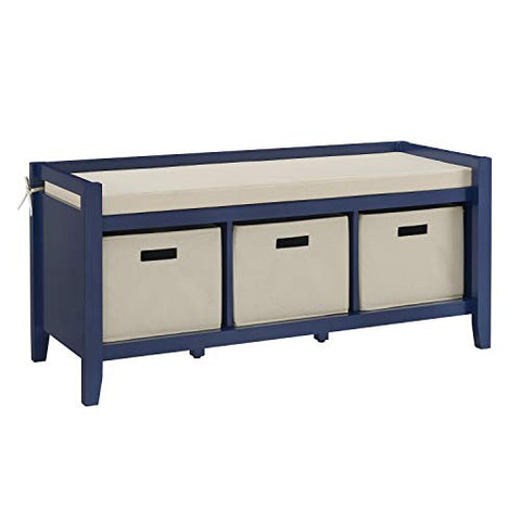Luray Navy Entryway Bench