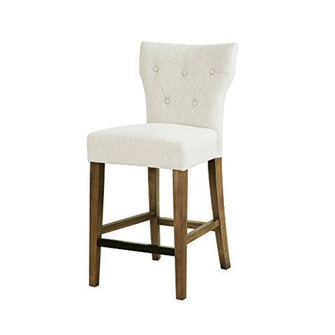 "Tufted Back Counter Stool1 Counter Stool:17.75W x 21.125D x 38.25H"" Seat Dimension:17.5""W x 15.75""D x 26""H Weight Capacity/LB:250CreamFPF20-0531"