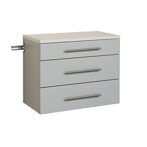 HangUps 3-Drawer Base Storage Cabinet, Light Gray